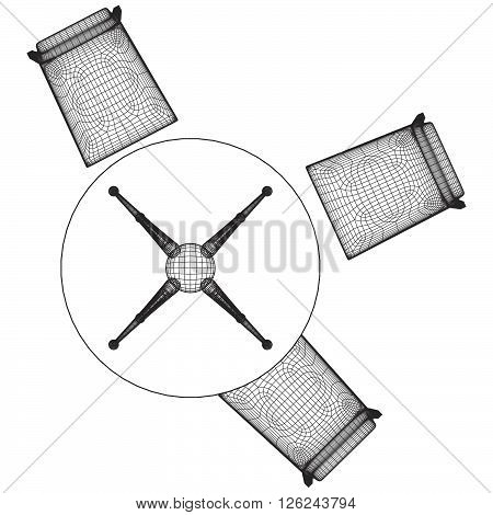 Set Table And Chairs Vector 0...