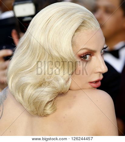 Lady Gaga at the 88th Annual Academy Awards held at the Dolby Theatre in Hollywood, USA on February 28, 2016.