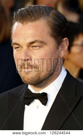 Leonardo DiCaprio at the 88th Annual Academy Awards held at the Dolby Theatre in Hollywood, USA on February 28, 2016.