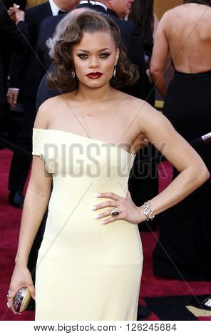 Andra Day at the 88th Annual Academy Awards held at the Dolby Theatre in Hollywood, USA on February 28, 2016.