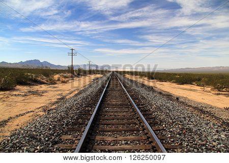 Union Pacific Railroad in Mojave National Preserve, California