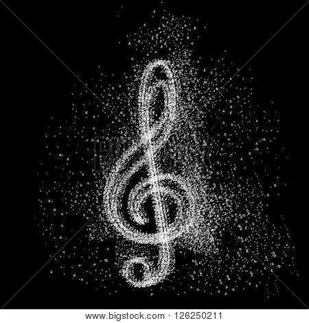 Music note Icon art background easy all editable