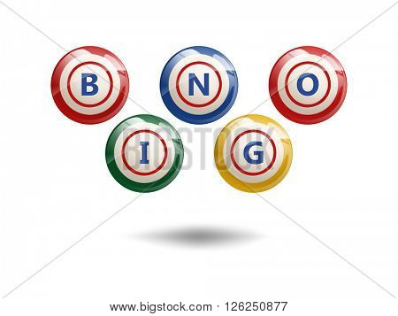 Flying Bingo Balls or Lottery Colorful Numbers
