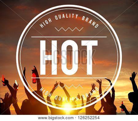 Hot Heat  Summer Sunny Beach Concept
