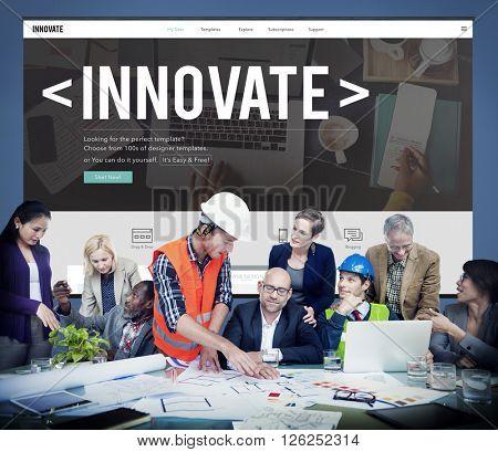 Innovate Innovation Technology Development Aspiration Concept