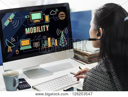 Mobility Mobile Internet Technology Wireless Concept