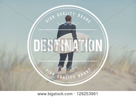 Destination Direction Navigation Location Position Concept