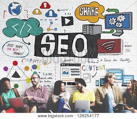 SEO Content Search Engine Optimization Concept