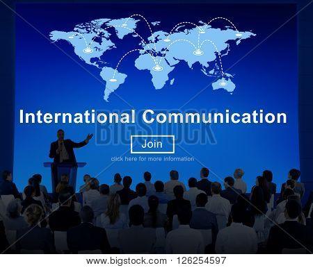 Internation Communication Worldwide Sharing Concept
