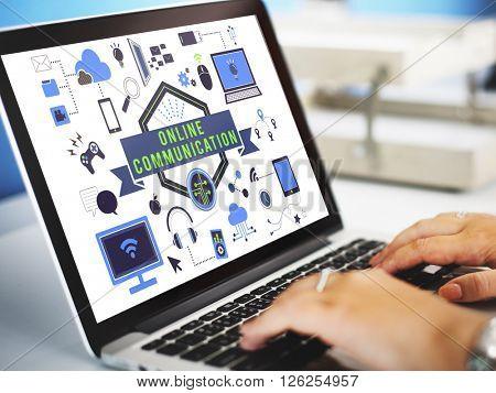 Data Communication Technology Concept