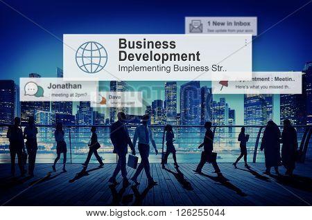Business Development Growth Success Improvement Concept