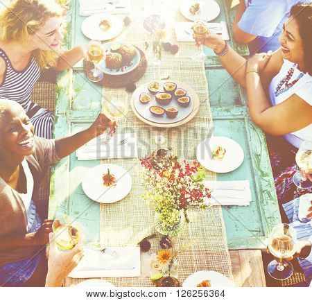 Celebrate Dining Friendship Nutrition Concept