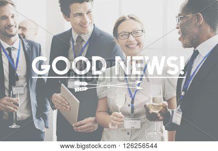 Good News Positive Information Communication Concept
