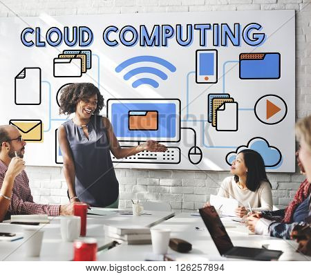 Cloud Computing Connection Data Information Storage Concept