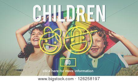 Children Childgood Kids Offispring Website Concept