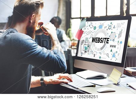 Website Connection Internet Technology Network Concept