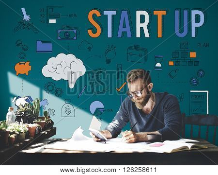 Startup New Business Launch Development Concept
