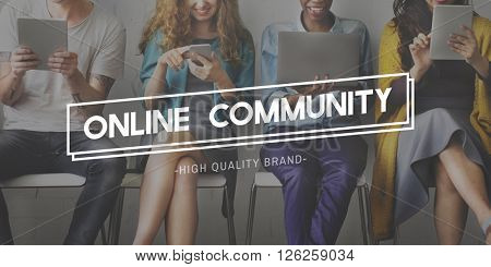 Online Community Connection Social Media Networking Concept