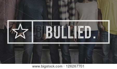 Bullied Bullying Torment Scare Oppression Forceful Concept