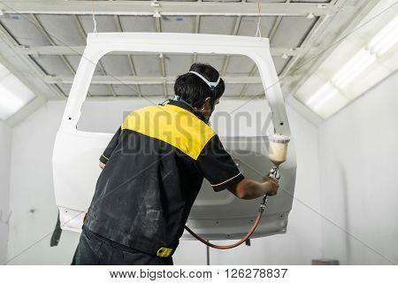 Auto body repair series : Repaint rear door