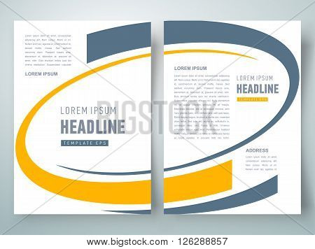 flyer business brochure design template abstract curves
