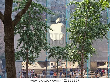 The Apple Store In Manhattan, New York City.