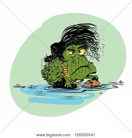 The evolution of men amphibian line art comic hand drawn