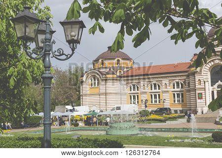 Sofia, Bulgaria - April 14: Central Public Mineral Bath House In Sofia, Bulgaria On April 14, 2016