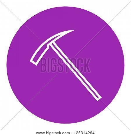 Ice pickaxe line icon.