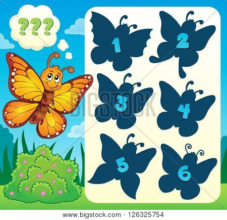 Butterfly riddle theme image 4 - eps10 vector illustration.