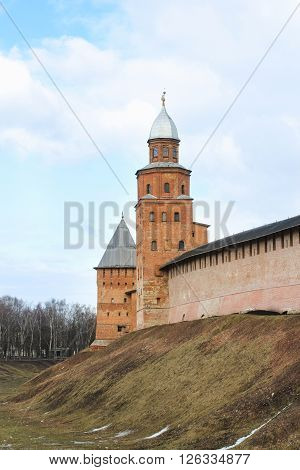 Veliky Novgorod, Russia - March 12, Watchtower Kokui referred to in the documents