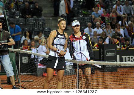 Beginning A Of Tennis Fed Cup Match