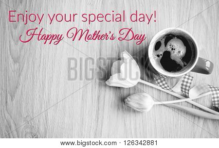 Mother´s day - coffee with flower for my best mom