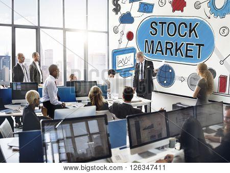 Stock Market Forex Finance Shareholder Exchange Concept