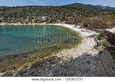 Panoramic view to village of Aliki,Thassos island,  East Macedonia and Thrace, Greece