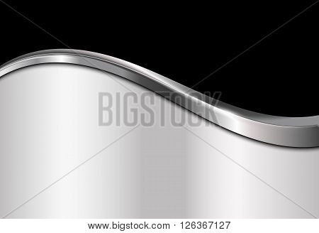 Silver and black metallic background, Abstract vector illustration EPS10