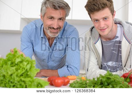 men and their vegetables
