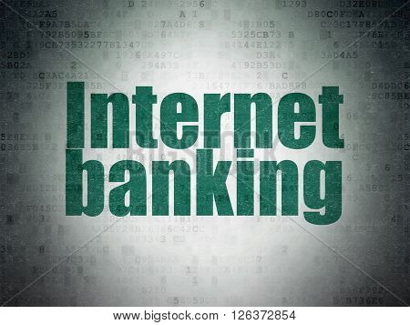 Money concept: Internet Banking on Digital Paper background