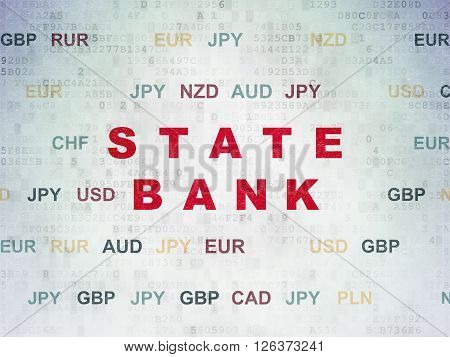 Banking concept: State Bank on Digital Paper background