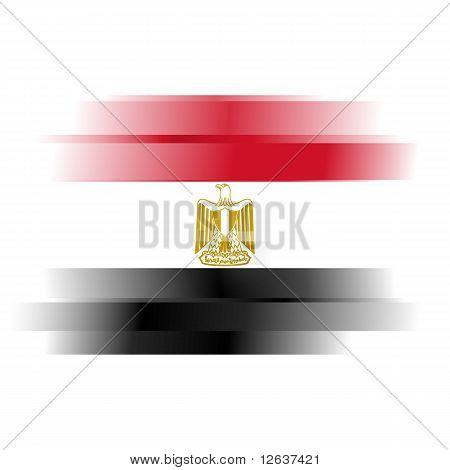 Abstract Raster Egypt Flag On White Background