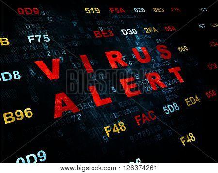 Protection concept: Virus Alert on Digital background