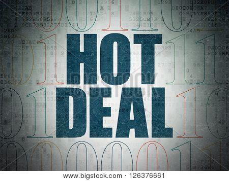 Business concept: Hot Deal on Digital Paper background