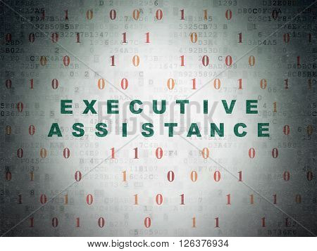 Business concept: Executive Assistance on Digital Paper background