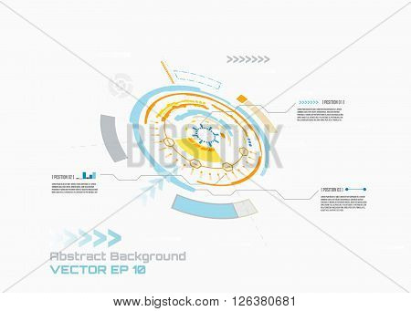 Futuristic interface  for your infographic design, HUD,  Abstract futuristic circuit board, hi-tech computer digital technology concept, vector background.