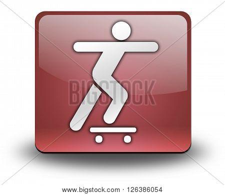 Image Photo Icon Button Pictogram with Skateboarding symbol