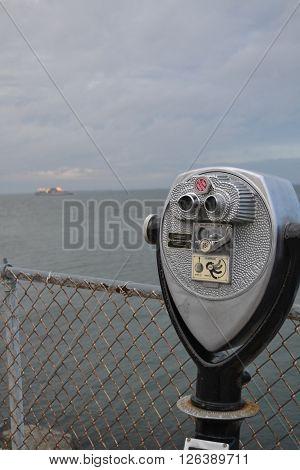 Chesapeake Bay Bridge Tunnel Observation Deck Binoculars ** Note: Soft Focus at 100%, best at smaller sizes