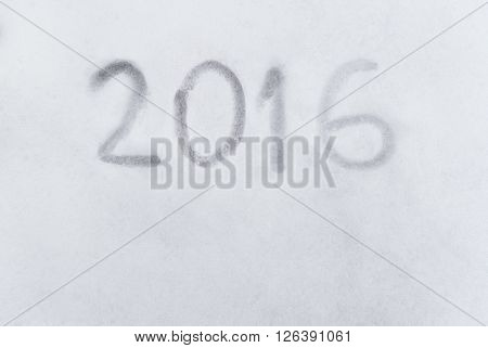 2016 Year Writen On The Snow, Concpet Of 2016 Inspiration