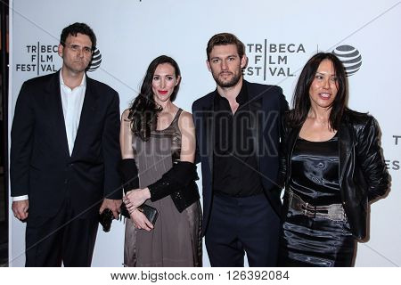 NEW YORK, NY - APRIL 18: Actor Alex Pettyfer with guests  attends the 'Elvis & Nixon' Premiere during the 2016 Tribeca Film Festival at BMCC John Zuccotti Theater on April 18, 2016 in New York City