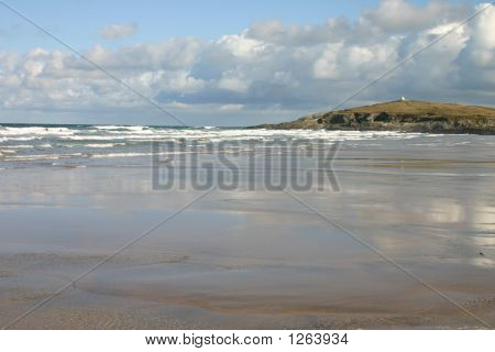Fistral Beach Reflections