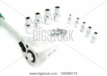 Ratchet, Different Heads And Bolts